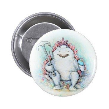 Beach Themed Sharky Button