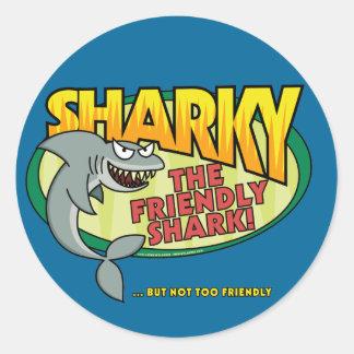 Sharky Classic Round Sticker