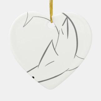 Sharky Friend Ceramic Ornament