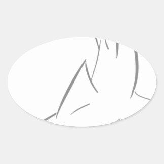 Sharky Friend Oval Sticker