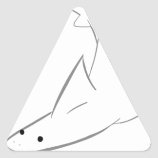 Sharky Friend Triangle Sticker