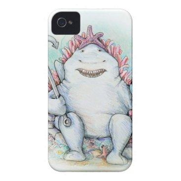 Beach Themed Sharky iPhone 4 Cover