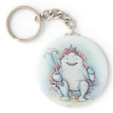 Beach Themed Sharky Keychain