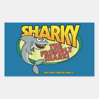 Sharky Rectangular Sticker