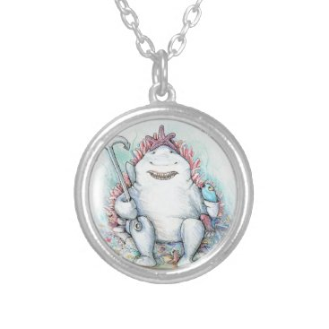 Beach Themed Sharky Silver Plated Necklace