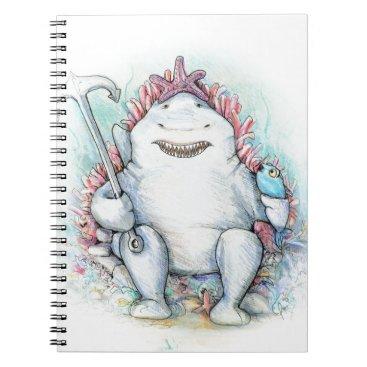 Beach Themed Sharky Spiral Notebook