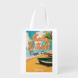 Sharm el Sheikh - poster del viaje del vintage de Bolsas De La Compra