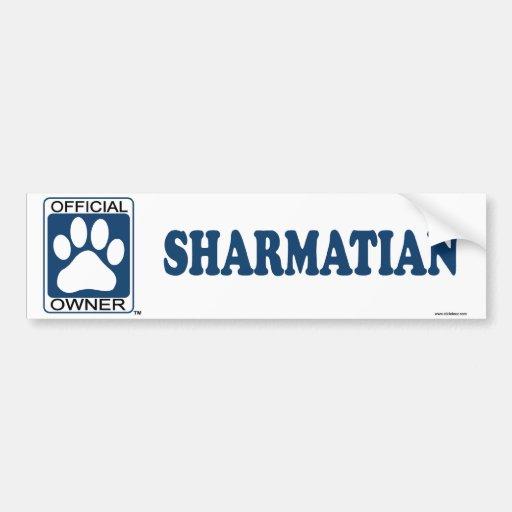 SHARMATIAN_blue Pegatina De Parachoque