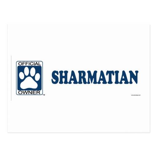 SHARMATIAN_blue Tarjeta Postal