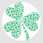 Sharmocks for St Patrick's Day Round Sticker