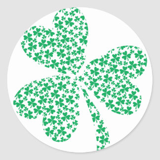 Sharmocks for St Patrick's Day Round Sticker