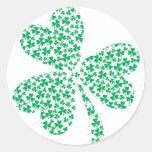 Sharmocks para el día de St Patrick Etiqueta Redonda