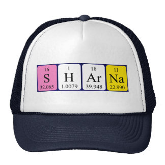 Sharna periodic table name hat