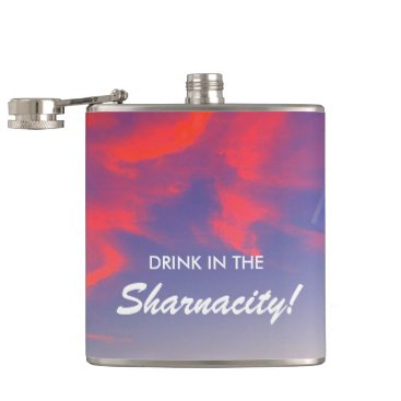 Beach Themed Sharnacity Hip Flask