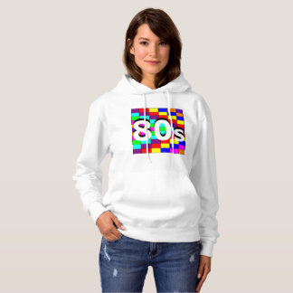 Sharnia's '80s Coloured BG' Hooded Sweatshirt