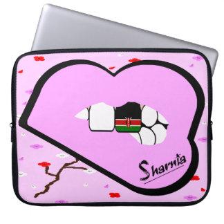 Sharnia's Lips Kenya Laptop Sleeve (Lt Pink Lips)