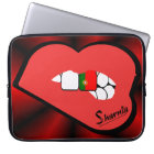 Sharnia's Lips Portugal Laptop Sleeve (Red Lips)
