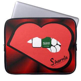 Sharnia's Lips Saudi Arabia Laptop Sleeve Red Lip