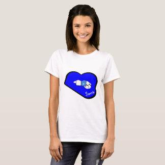 Sharnia's Lips Somalia T-Shirt (Blue Lips)