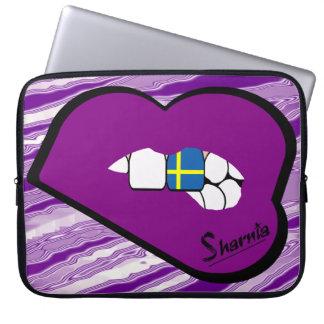Sharnia's Lips Sweden Laptop Sleeve (Purple Lips)