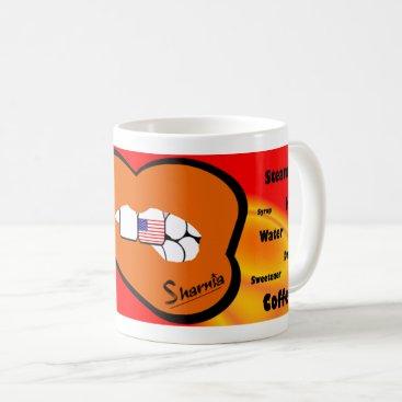 USA Themed Sharnia's Lips USA Mug (ORANGE Lip)
