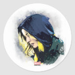 Sharon Carter Painted Graphic Classic Round Sticker