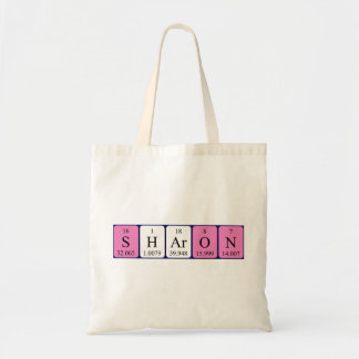Sharon periodic table name tote bag