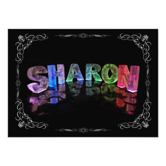 Sharon  - The Name Sharon in 3D Lights (Photograph Photo Print
