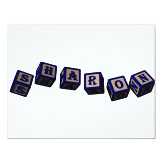 Sharon toy blocks in blue card