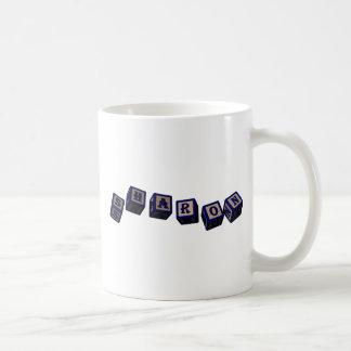 Sharon toy blocks in blue coffee mug