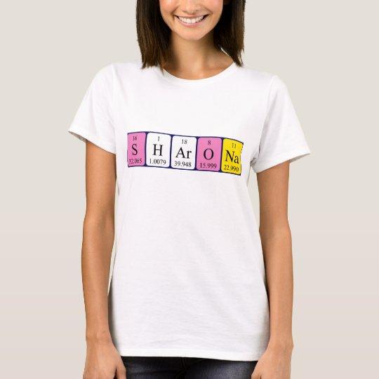Sharona periodic table name shirt