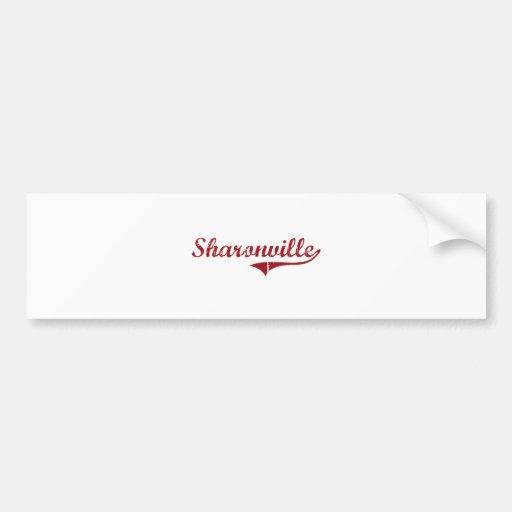 Sharonville Ohio Classic Design Bumper Sticker