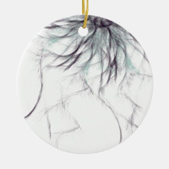 sharp and spiky ceramic ornament