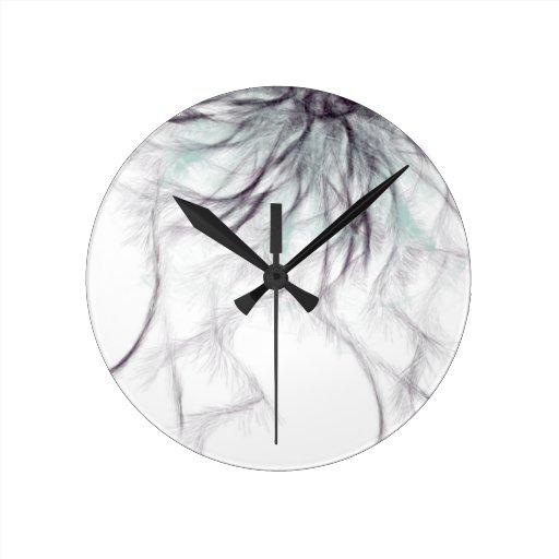 sharp and spiky round wall clocks