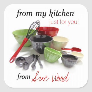 Sharp and Stylish Custom Kitchen Gift Stickers