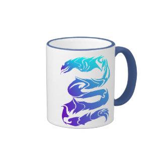 Sharp Blue Dragon Mugs