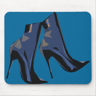 Sharp Boots (blue) Mouse Pad