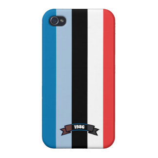 Sharp Color Stripe Pattern iPhone 4 Case