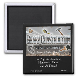 Sharp Construction 2 Inch Square Magnet
