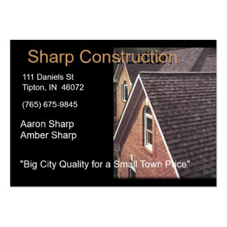Sharp Construction - Brown and Black Large Business Cards (Pack Of 100)