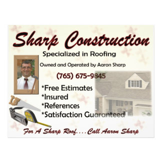 Sharp Construction Flyers
