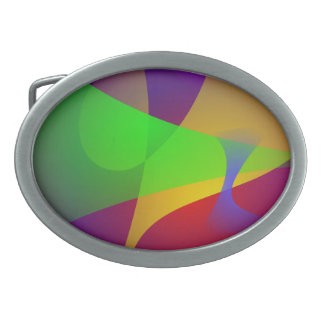 Sharp Contrast Vivid Color Abstract Belt Buckle