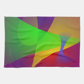 Sharp Contrast Vivid Color Abstract Kitchen Towel