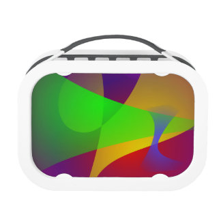 Sharp Contrast Vivid Color Abstract Yubo Lunchboxes
