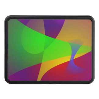 Sharp Contrast Vivid Color Abstract Tow Hitch Cover
