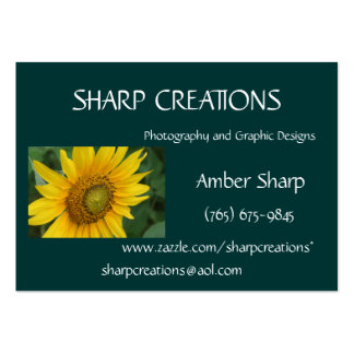 Sharp Creations - Customized Large Business Card