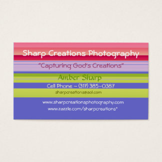 Sharp Creations Photography Business Card