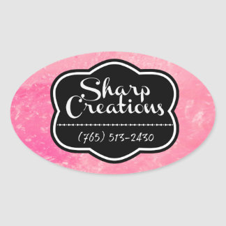 Sharp Creations Pink Oval Sticker