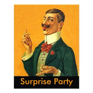 Sharp Dapper Snapper Surprise Party Invitation