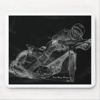 sharp designs speedway bikeonblack mouse mat